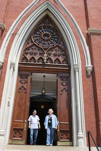 Front entrance of St. Paul's Roman Catholic Church. Image provided by Historical Society of Pennsylvania