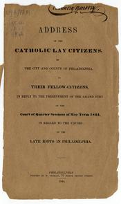 """Address of the Catholic lay citizens of the city and county of Philadelphia"". Image provided by Historical Society of Pennsylvania"