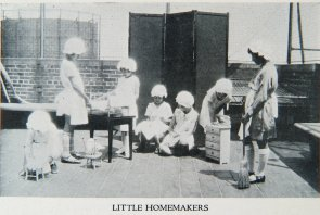 Little homemakers. Image provided by Historical Society of Pennsylvania