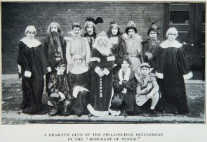"A Dramatic Club of the Philadelphia Settlement in ""The Merchant of Venice"""