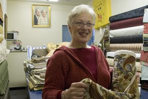 Jeanette Adler (Adler's Fabrics). Image provided by Cross/Walks