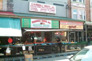 Cannuli Brothers storefront. Image provided by Historical Society of Pennsylvania