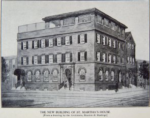 The New building of St. Martha's House. Image provided by Historical Society of Pennsylvania