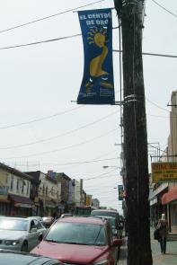 El Centro de Oro banner. Image provided by Historical Society of Pennsylvania