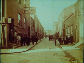 Public baths at Gaskill and Leithgow Streets.. Image provided by Historical Society of Pennsylvania