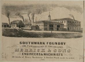 Southwark Foundry, 1852. Image provided by Historical Society of Pennsylvania