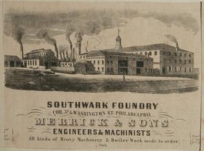 Southwark Foundry, 1852. Image provided by Historical Society of Pennsylvania