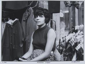 Marshall Street: woman in front of clothing store. Image provided by Irv Orenstein