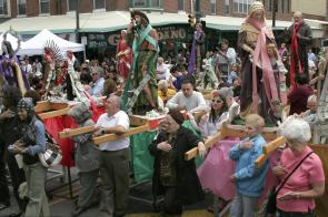 Blessing of the Italian Market. Image provided by Maria Petrone