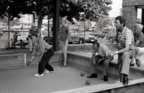 Bocce players. Image provided by Maria Petrone