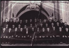 Original members of the Marshall Street Synagogue Kneses Israel Anshe S'fard. Image provided by Elaine Ellison