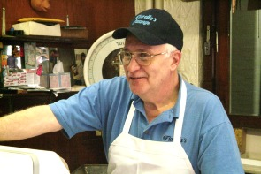 Dan Fiorella at Fiorella Brothers Sausage. Image provided by Historical Society of Pennsylvania