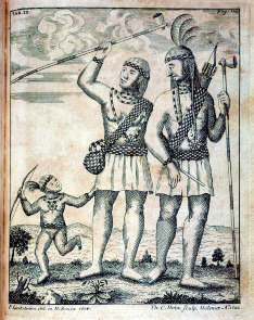 Lenni Lenape family. Image provided by Library Company of Philadelphia