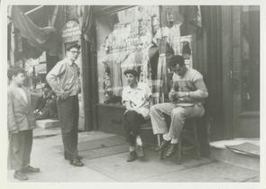 Neighborhood Boys in front of 988 N. Marshall Street. Image provided by Elaine Ellison