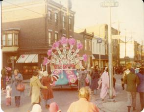 Mummers Parade, 1977. Image provided by Barb Galyean