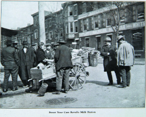 Street near Casa Ravello Milk Station. Image provided by Historical Society of Pennsylvania