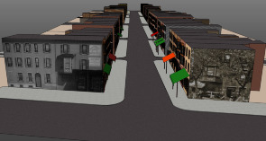 3-D computer modeling of 9th Street Market. Image provided by Shimrit Keddem
