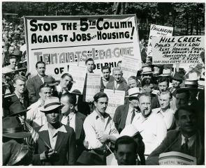 Building Trade Council protest