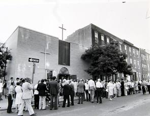 Funeral of Nora Tayoun at St. Maron's Church. Image provided by Historical Society of Pennsylvania