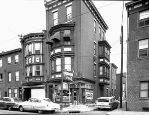 Northwest Corner of Bodine and Fairmount Ave. Image provided by City of Philadelphia Department of Records