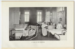 A Ward in the hospital. Image provided by Historical Society of Pennsylvania