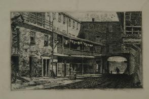 Black Horse Inn yard. Image provided by Historical Society of Pennsylvania