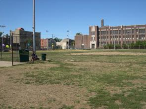 Sacks Playground baseball diamond. Image provided by Historical Society of Pennsylvania