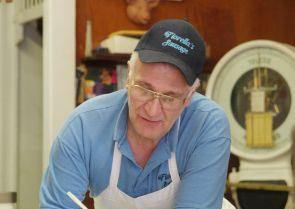Dan Fiorella at Fiorella Brothers Sausage. Image provided by Historical Society of Pennsylvania