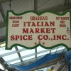 Grassia's Italian Market Spice Company sign. Image provided by Historical Society of Pennsylvania