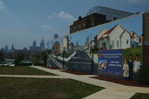 John F. Street Community Center billboard. Image provided by Historical Society of Pennsylvania