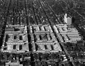 Richard Allen Homes, aerial view. Image provided by Temple University Urban Archives