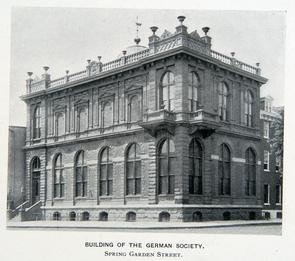 Building of the German Society. Image provided by Historical Society of Pennsylvania