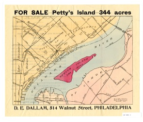 For Sale - Petty's Island (recto). Image provided by Historical Society of Pennsylvania