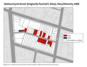 Wallace/Lynd Street (Originally Paschall's Alley), Race/Ethnicity 1900. Image provided by University of Pennsylvania School of Design