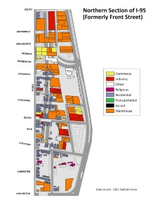 Northern Section of I-95 (Formerly Front Street). Image provided by University of Pennsylvania School of Design