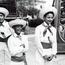 Three boys in straw hats. Image provided by Historical Society of Pennsylvania
