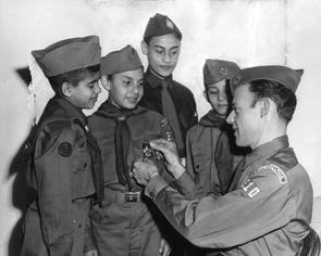 Puerto Rican Boy Scout Troop 310. Image provided by Temple University Urban Archives