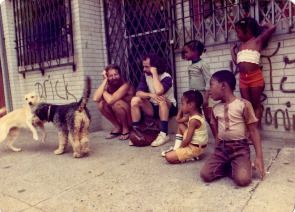 Isaiah Zagar, mosaic artist, relaxes with neighborhood friends