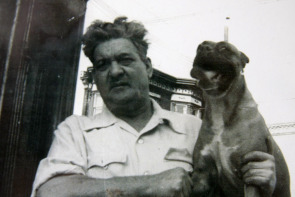 John Cardullo and his dog