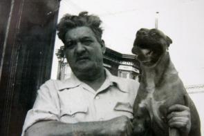 John Cardullo and his dog