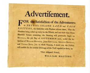 Advertisement--Petty's Island. Image provided by Historical Society of Pennsylvania