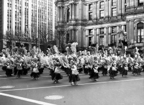 Mummers from the Fancy Division on Broad street