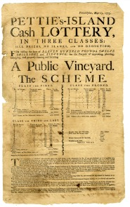 Pettie's Island Cash Lottery broadside. Image provided by Historical Society of Pennsylvania