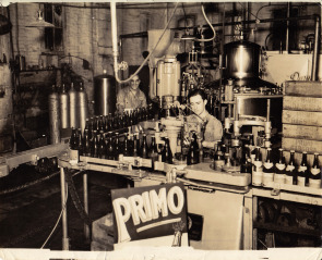 More bottling inside the Esposito soda factory on Washington Avenue