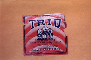 A sign for the short-lived Trio Cola