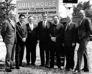Guild House Groundbreaking. Image provided by Temple University Urban Archives