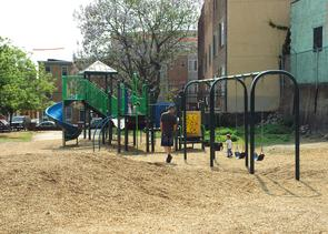 Playground at Liberty Lands Park. Image provided by City of Philadelphia Department of Records