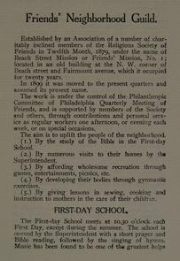 Friends Neighborhood Guild report. Image provided by Historical Society of Pennsylvania