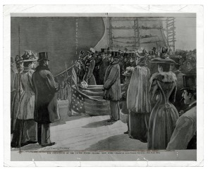 "The Christening of the United States Cruiser ""New York"". Image provided by Historical Society of Pennsylvania"