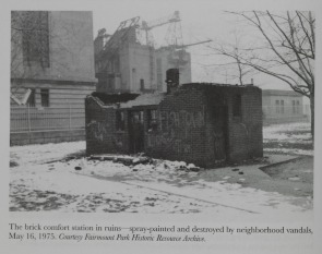 Comfort Station in Ruins. Image provided by Historical Society of Pennsylvania